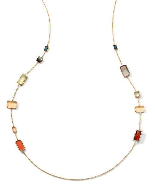 Ippolita | Metallic Rock Candy 18k Gold Necklace | Lyst