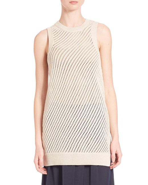 Vince | Multicolor Mesh Stitched Tank Top | Lyst