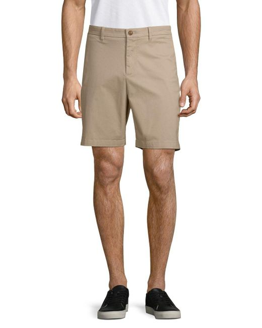 Saks Fifth Avenue - Natural Stretch-cotton Chino Shorts for Men - Lyst