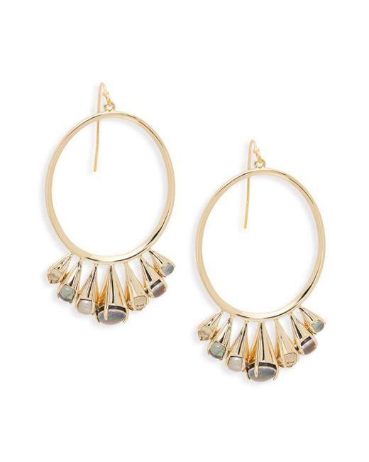 Alexis Bittar - Metallic Goldtone & Multi-color Lucite Hoop Dangle Earrings - Lyst