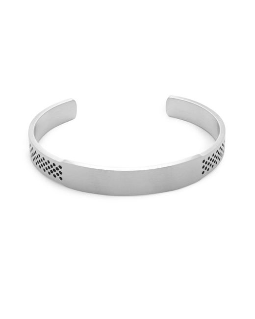 Saks Fifth Avenue | Metallic Perforated Stainless Steel Cuff Bracelet | Lyst