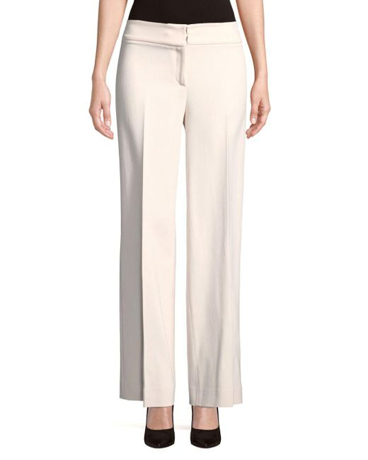 Carolina Herrera - Pink Pleated Wide-leg Pants - Lyst