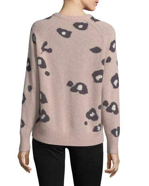 360cashmere Patterned Cashmere Sweater | Lyst