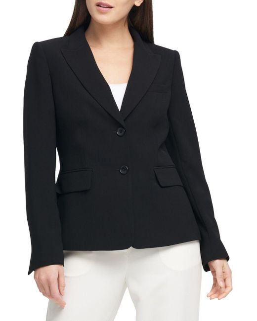 Donna Karan - Black Two-button Short Jacket - Lyst