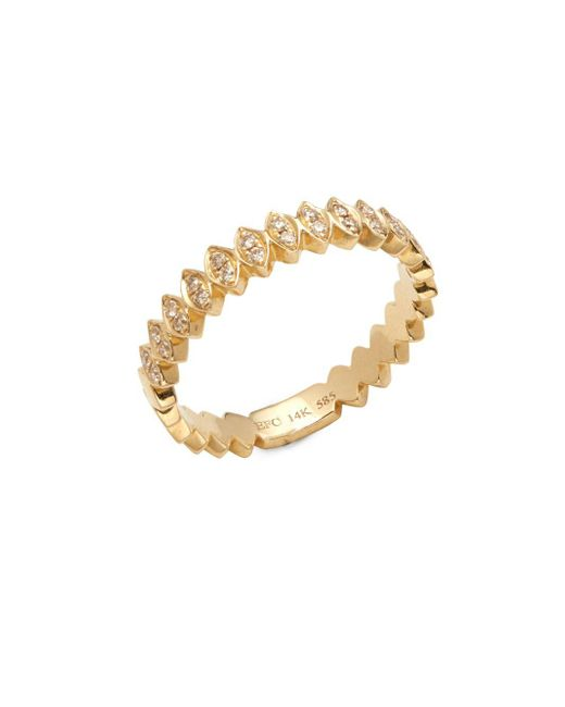 EF Collection - Metallic 14k Yellow Gold & Diamond Marquis Ring - Lyst