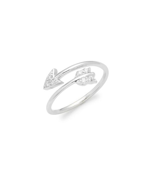 KC Designs - Metallic Diamond & 14k White Gold Arrow Ring - Lyst