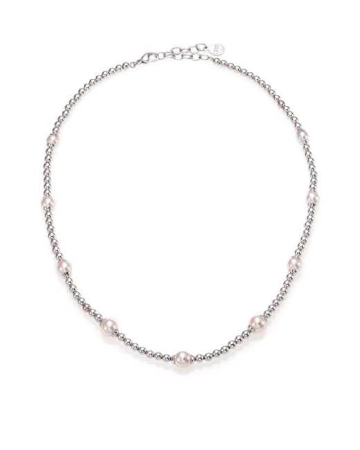 Majorica | Blake 6mm-8mm White Pearl Beaded Necklace | Lyst