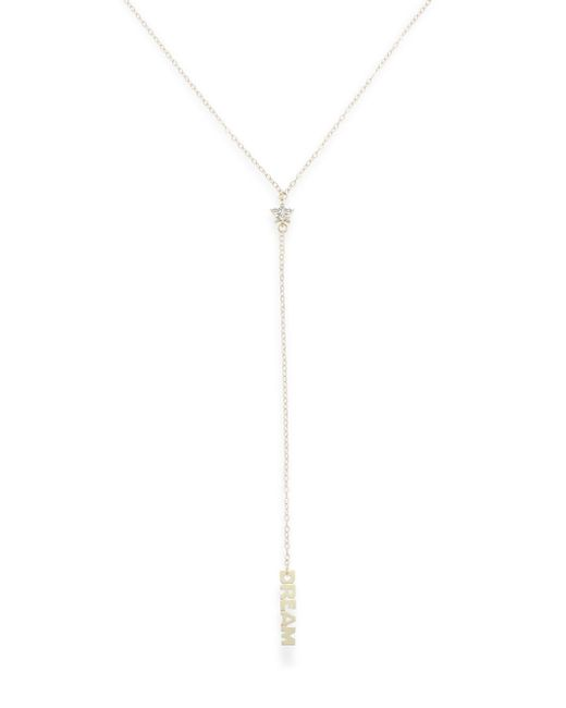Saks Fifth Avenue - Metallic Diamond & 14k Gold Star 'y' Necklace - Lyst
