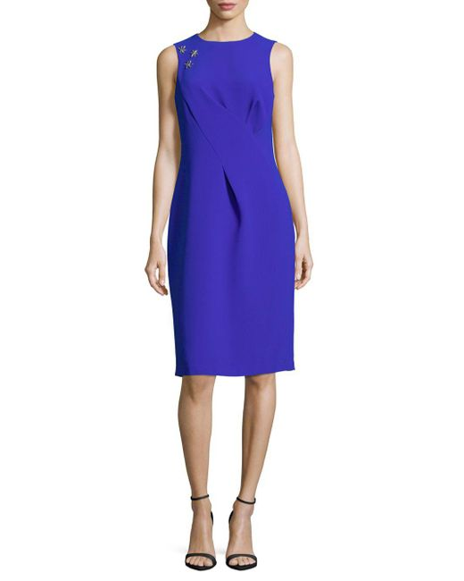 Rene Ruiz - Gray Sleeveless Sheath Dress - Lyst