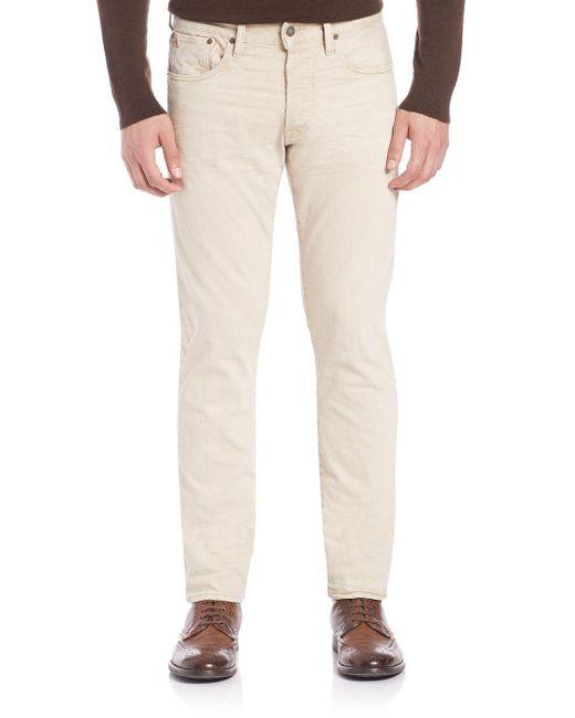 Ralph Lauren - Natural Slim-fit Pants for Men - Lyst