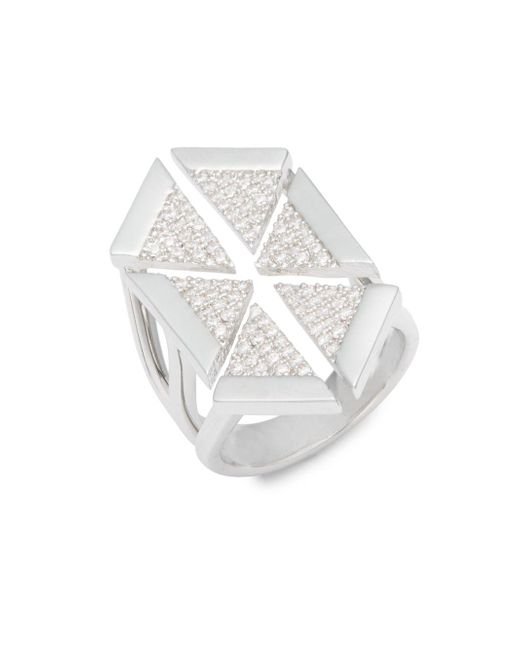 Noir Jewelry - Metallic Multi-triangle Cubic Zirconia Ring - Lyst
