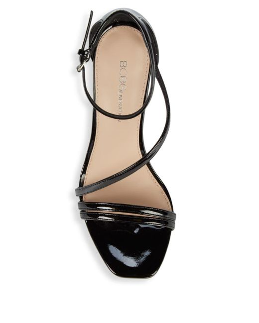 9f34f3a0050 ... BCBGeneration - Black Isabel Patent Ankle-strap Stiletto Sandals - Lyst  ...