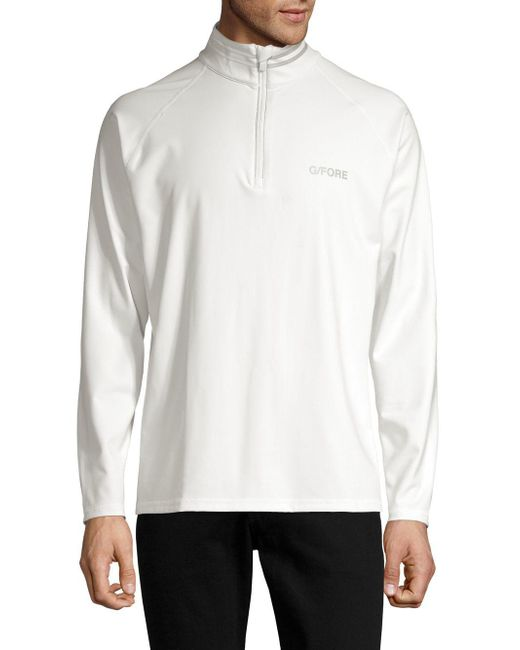 G/FORE - White The Mid Half-zip Sweater for Men - Lyst