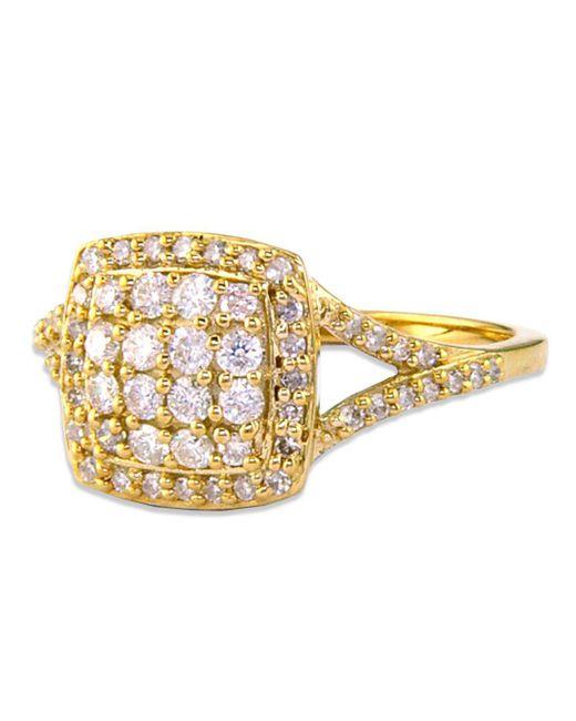 Effy   Metallic 14 Kt. Gold Cushion-cut Diamond Ring   Lyst