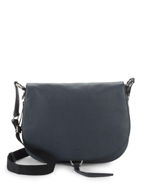Vince Camuto - Blue Barna Leather Saddle Bag - Lyst