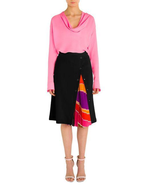 Emilio Pucci - Pink Cowlneck Silk Top - Lyst