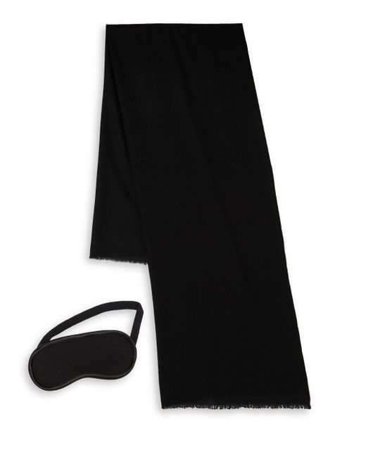 Ugg - Black Two-piece Cashmere Scarf And Eye Mask Travel Gift Set - Lyst