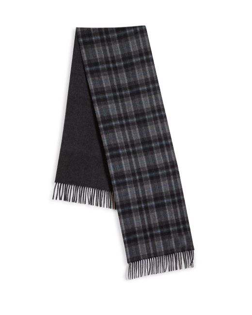 Saks Fifth Avenue - Gray Johnstons Of Elgin Plaid Merino Wool & Cashmere Scarf for Men - Lyst