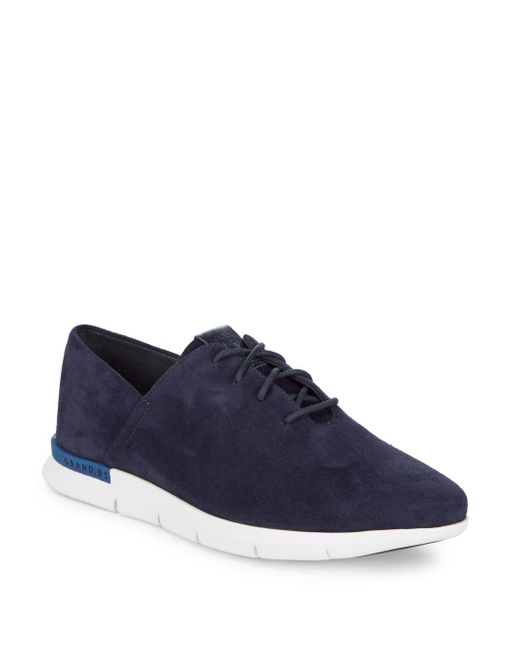Cole Haan - Blue Grand Horizon Suede Sneakers - Lyst