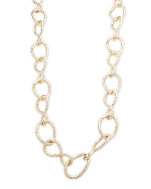 Kenneth Jay Lane - Metallic Link Necklace - Lyst