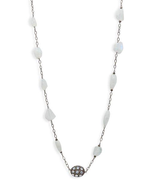 Bavna - Metallic Sterling Silver Single Strand Necklace - Lyst