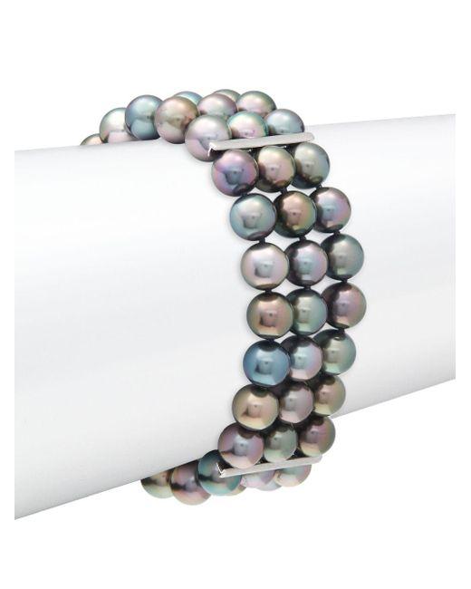 Tara Pearls   Black Pearl Multi-strand Bracelet   Lyst