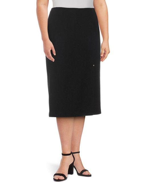 Lafayette 148 New York - Black Lucina Wool Knee-length Skirt - Lyst