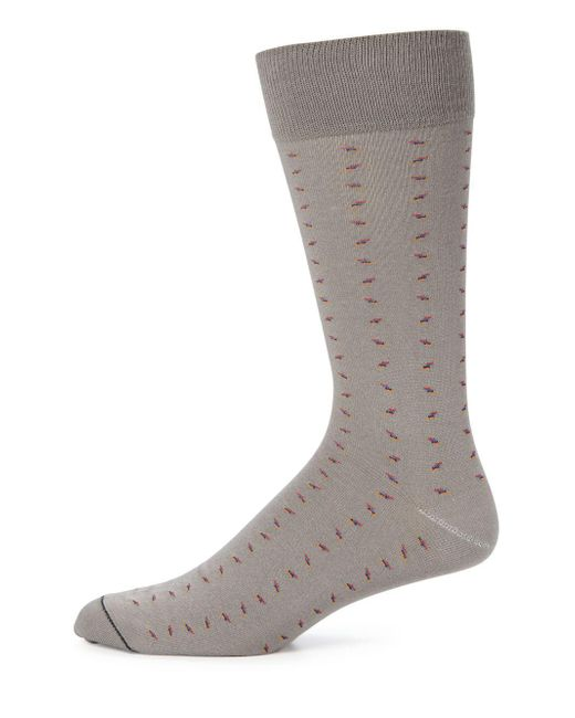Saks Fifth Avenue - Gray Combed Cotton Blend Socks for Men - Lyst