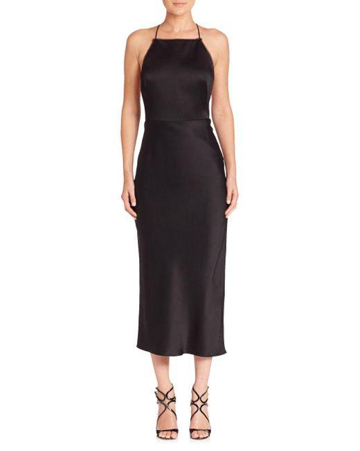 Jason Wu - Black Satin Cocktail Dress - Lyst