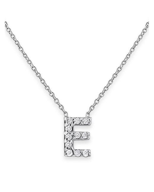 KC Designs - Metallic Diamond Initials 14k White Gold Pendant Necklace - Lyst