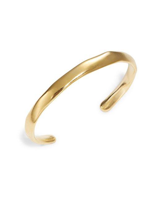 Uno De 50 - Metallic Open Your Mind Hammered Metal Cuff Bracelet - Lyst