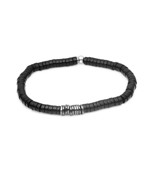 Tateossian - Metallic Sterling Silver & Bamboo Bracelet - Lyst