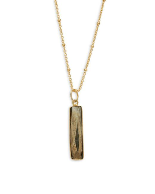 Alanna Bess - Brown Faceted Pendant Necklace - Lyst