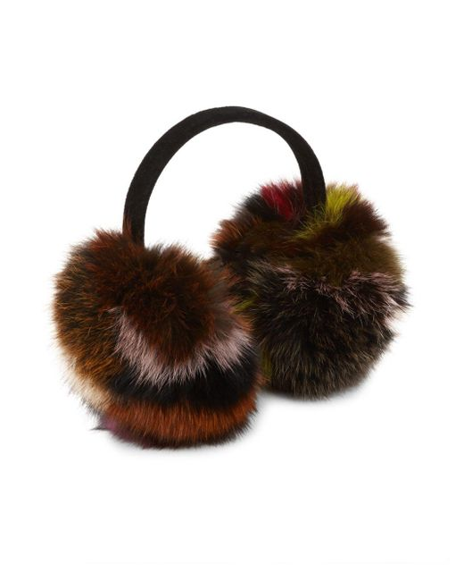 Surell - Brown Fox Fur Earmuffs - Lyst