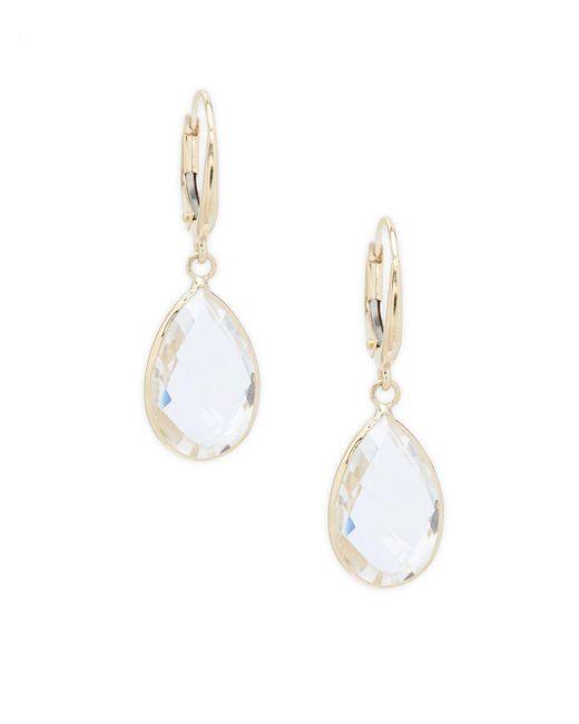 Saks Fifth Avenue - Metallic Clear Quartz Teardrop Dangle & Drop Earrings - Lyst