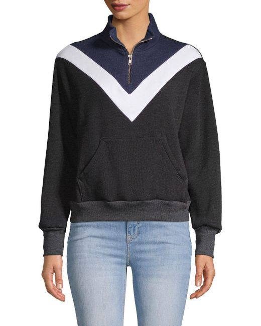 Wildfox - Black Chevron Long-sleeve Sweatshirt - Lyst