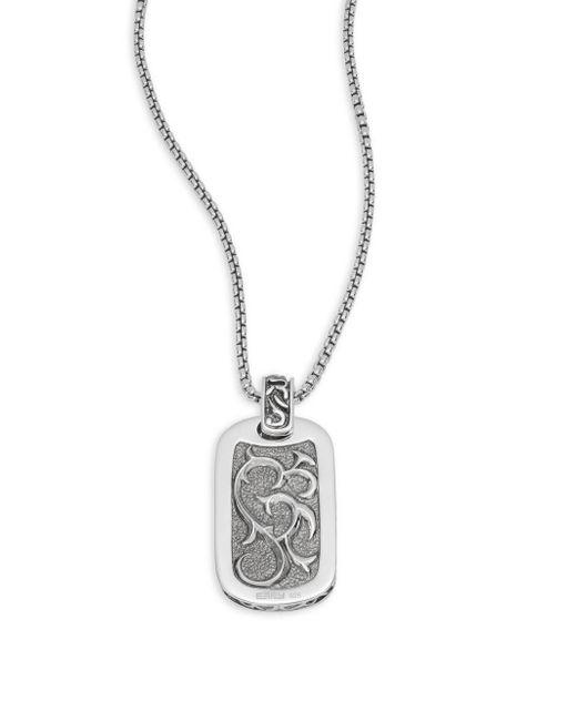 Effy | Metallic Black Sapphire & Sterling Silver Oval Pendant Necklace | Lyst