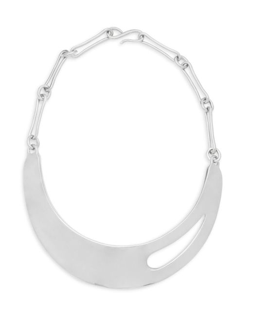 Robert Lee Morris - Metallic Sterling Silver Cutout Necklace - Lyst