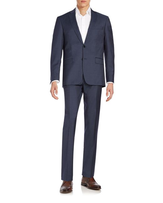 John Varvatos | Blue Regular-fit Wool Suit for Men | Lyst