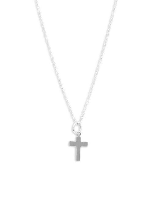 Saks Fifth Avenue - Metallic 14k White Gold Pendant Necklace - Lyst