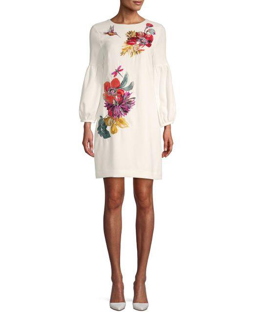 Trina Turk - White Passion Floral Dress - Lyst