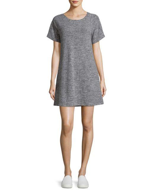 BB Dakota - Gray Journey Heathered A-line Dress - Lyst