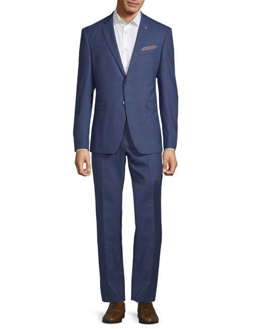 Original Penguin Blue Slim-fit Suit for men