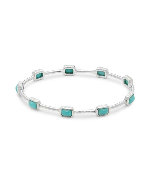 Ippolita | Metallic Rock Candy Turquoise & Sterling Silver Bangle | Lyst