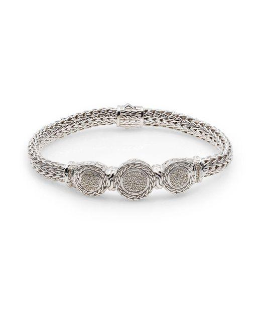 John Hardy | Metallic Classic Chain 0.34 Tcw Diamond & Sterling Silver Bracelet for Men | Lyst