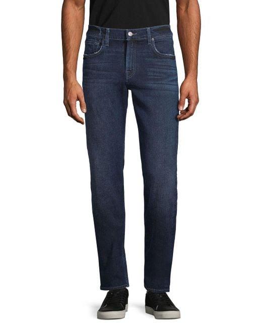 7 For All Mankind Blue Slim-fit Five-pocket Jeans for men