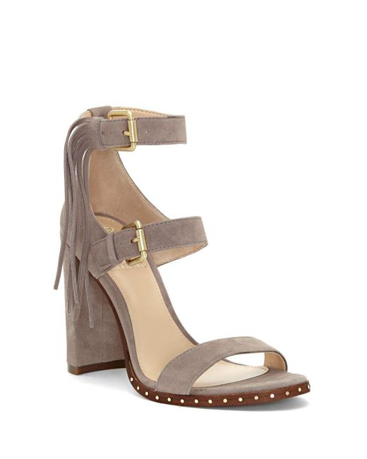 Vince Camuto - Natural Fringed Suede Sandals - Lyst