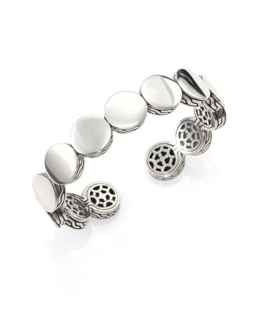 John Hardy - Metallic Sterling Silver Dot Cuff Bracelet - Lyst