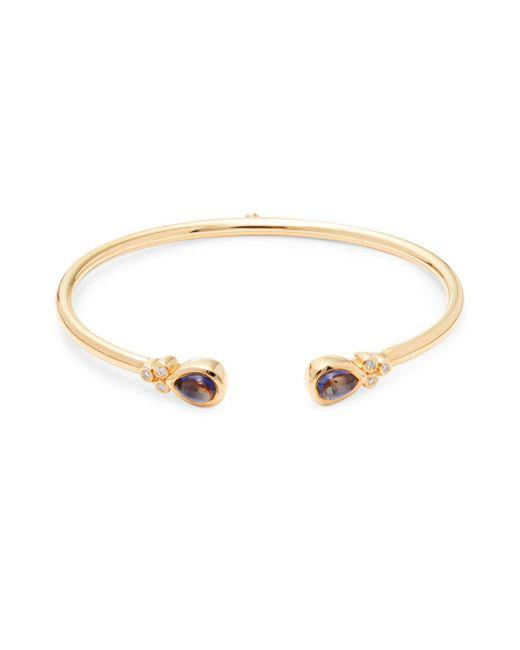 Estate Fine Jewelry - Metallic Bellina Diamond, Iolite & 18k Gold Bracelet - Lyst