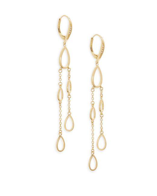 Saks Fifth Avenue | Metallic Crystal Goldplated Drop Earrings | Lyst